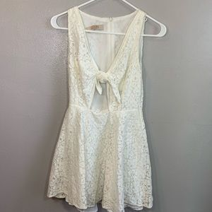 Lucylove Lacy Dress white
